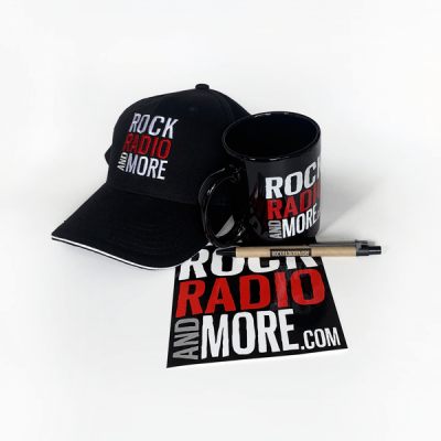 Rock radio and More Combo Hat cup sticker pen